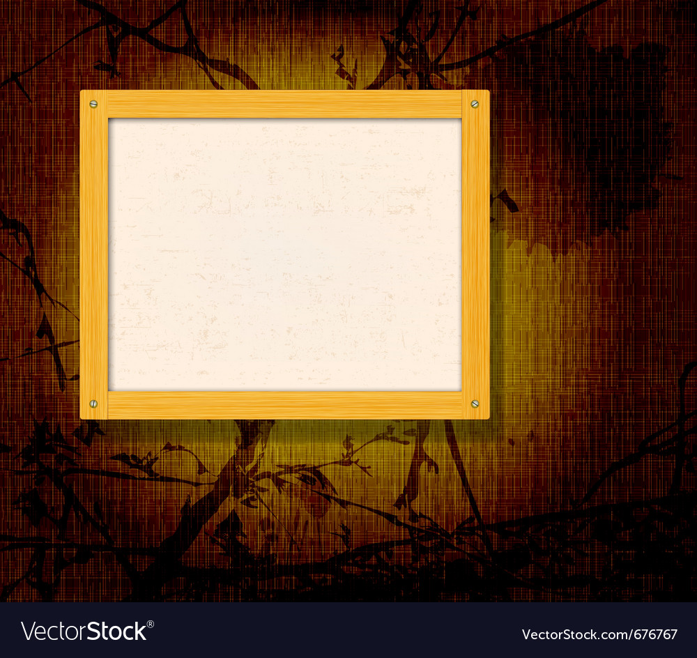Old wooden frame vector | Price: 1 Credit (USD $1)