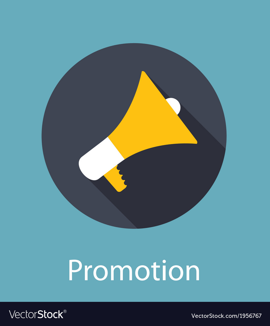 Promotion flat concept icon vector | Price: 1 Credit (USD $1)