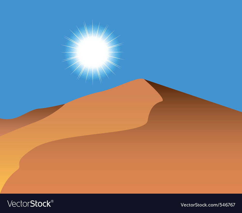 Sand dunes vector | Price: 1 Credit (USD $1)