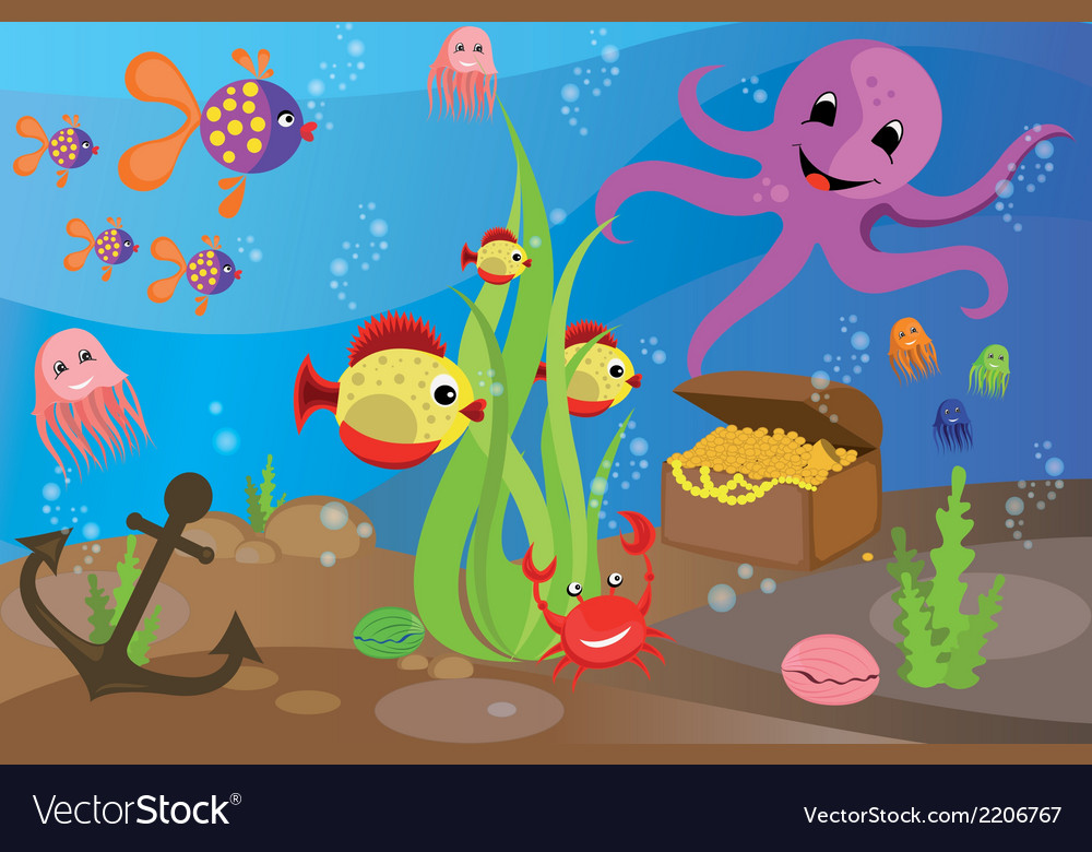 Sea life vector | Price: 1 Credit (USD $1)