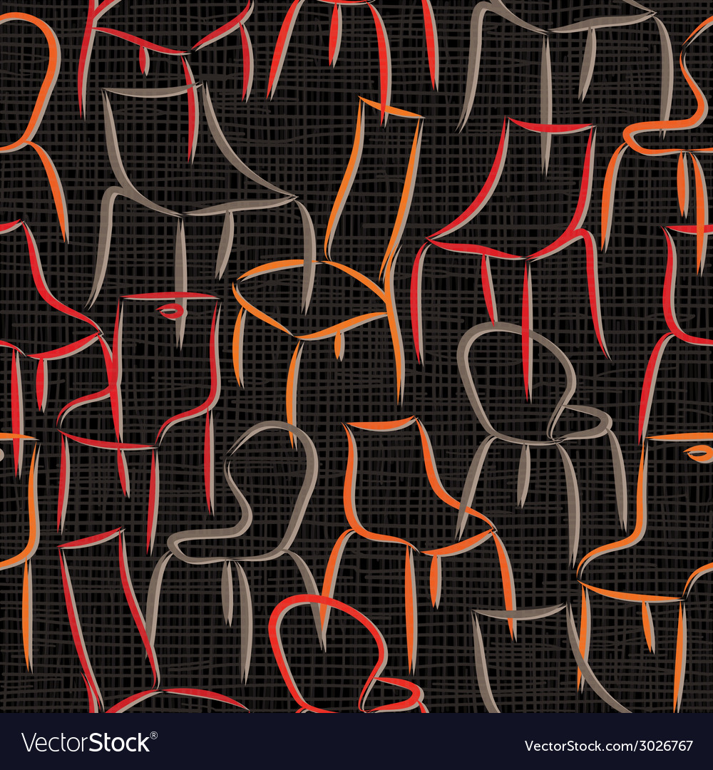 Seamless pattern with armchairs abstract vector | Price: 1 Credit (USD $1)