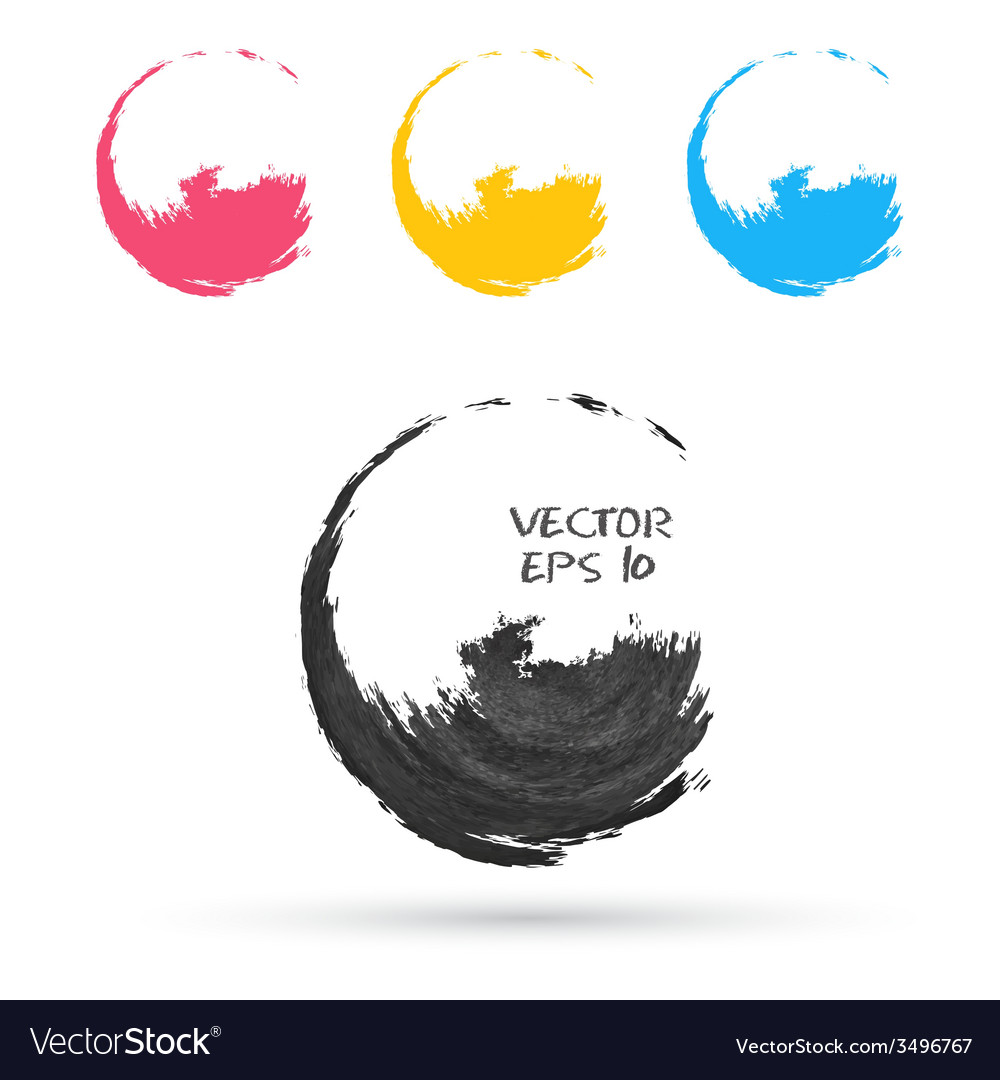 Set of hand color circles vector | Price: 1 Credit (USD $1)