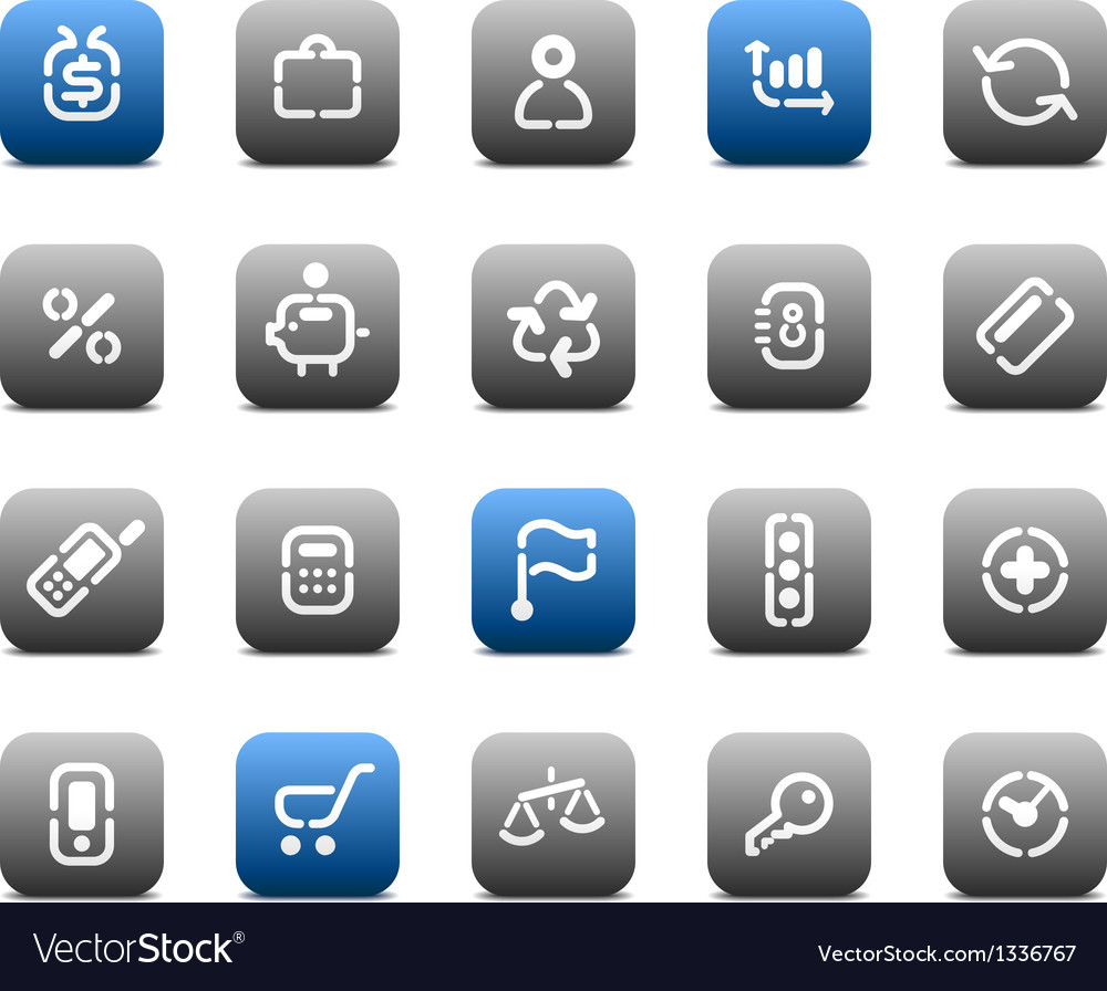 Stencil matt buttons for business vector | Price: 1 Credit (USD $1)