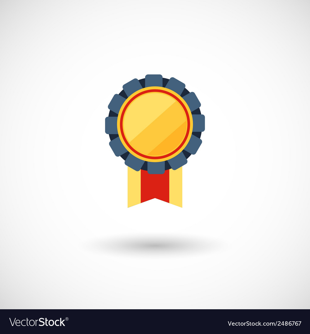 Symbol of the winner badge with tapes vector | Price: 1 Credit (USD $1)