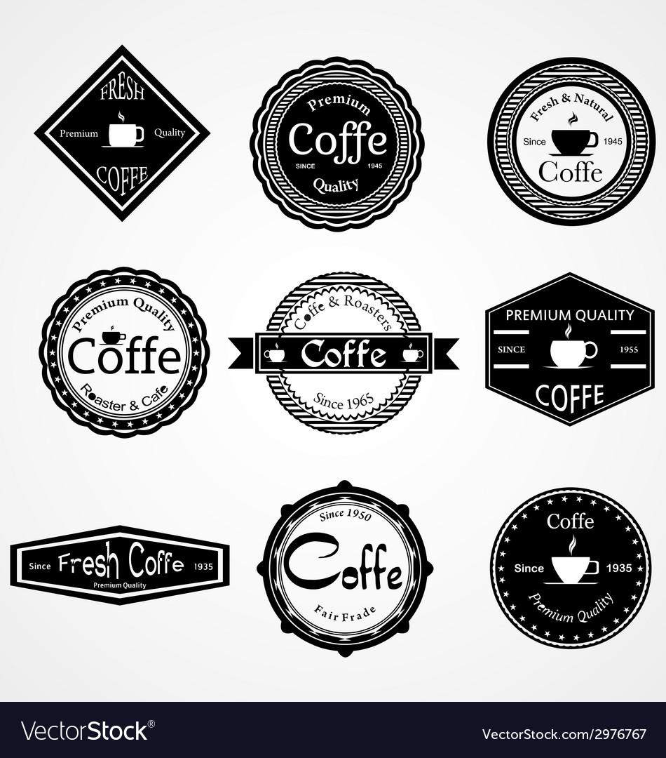 Vintage coffe labels vector | Price: 1 Credit (USD $1)