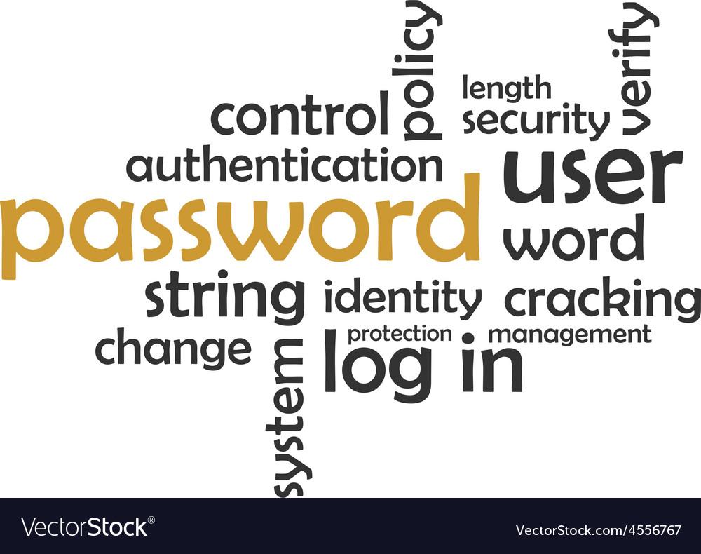 Word cloud password vector | Price: 1 Credit (USD $1)