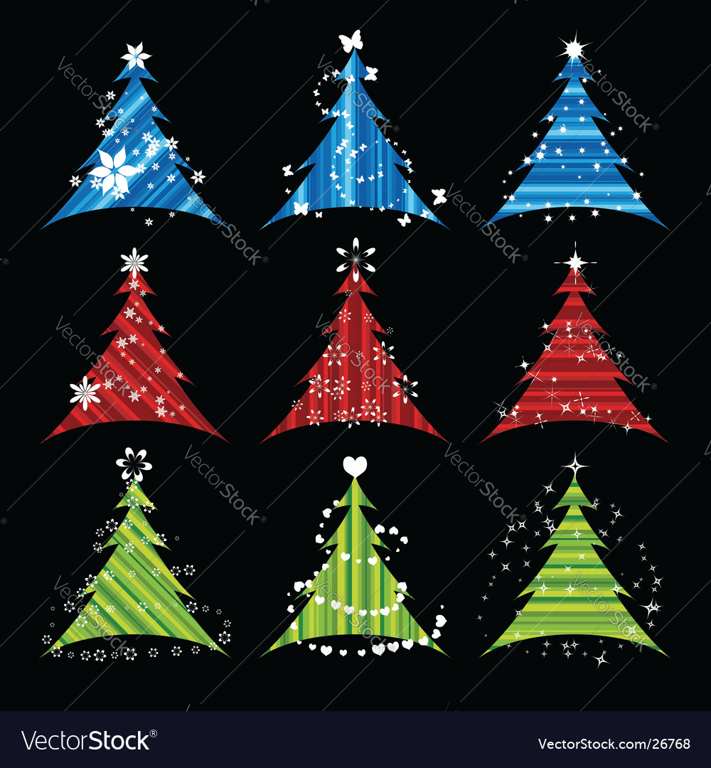 Christmas tree collections vector