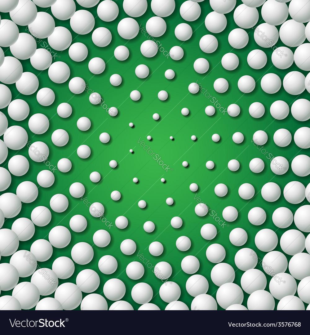 Circular frame made of golf balls vector | Price: 1 Credit (USD $1)