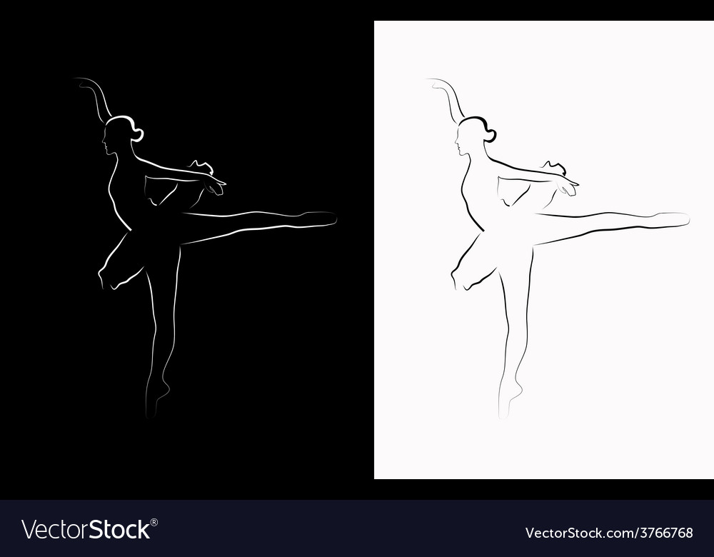 Image of a ballerina vector | Price: 1 Credit (USD $1)