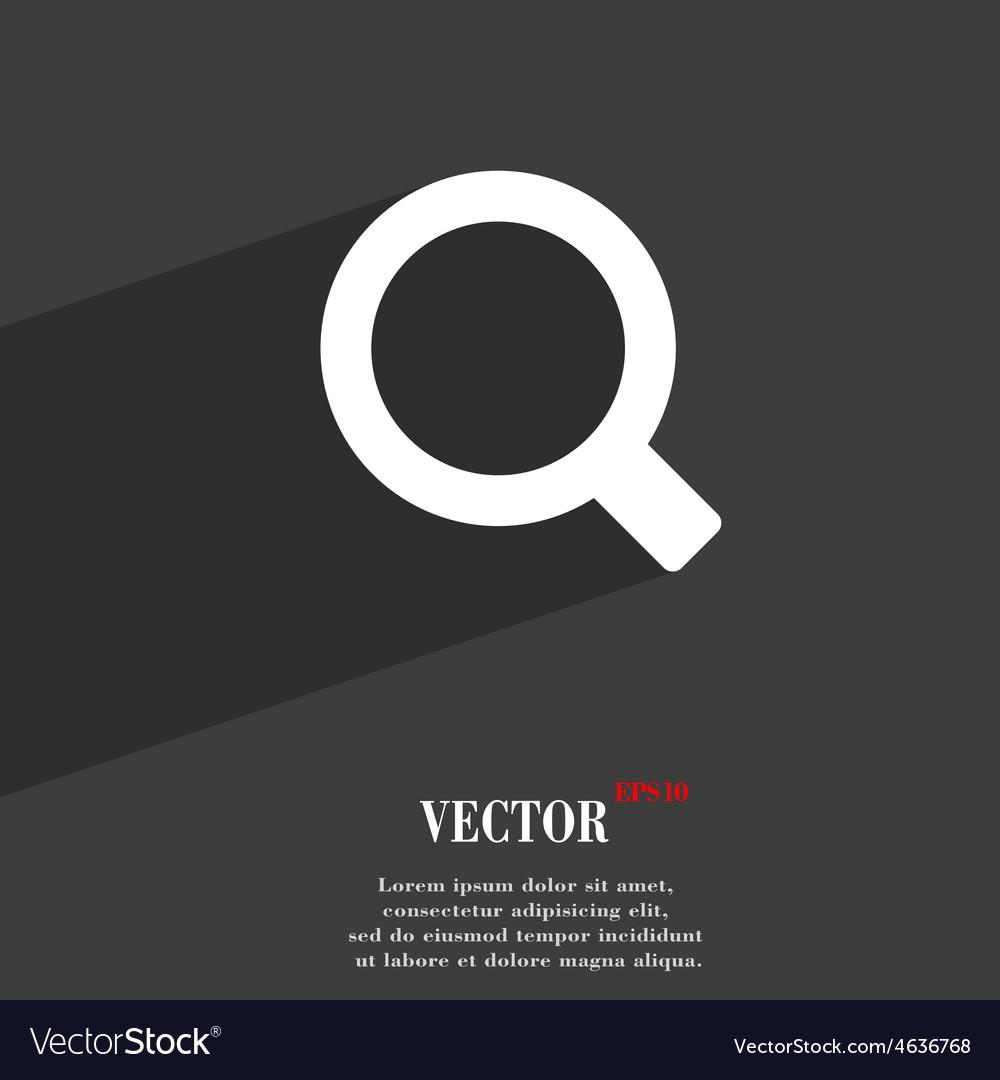 Magnifier glass icon symbol flat modern web design vector | Price: 1 Credit (USD $1)