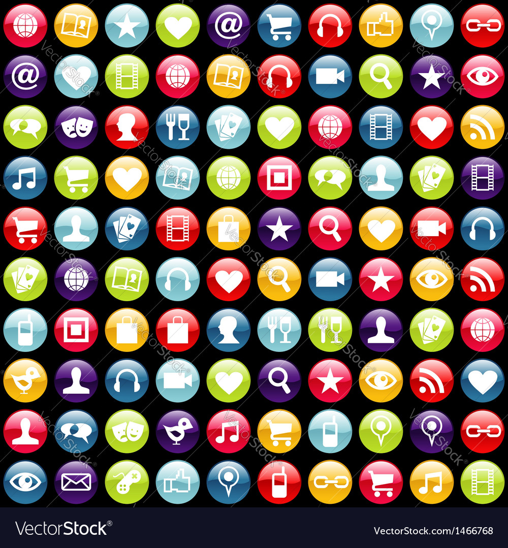 Mobile phone app icons background vector | Price: 1 Credit (USD $1)