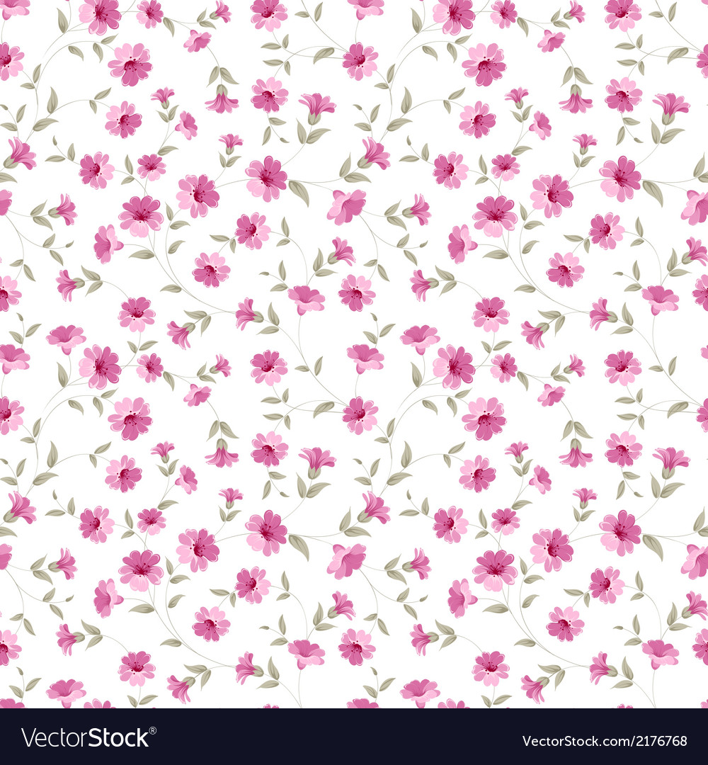 Pink flowers fabric vector | Price: 1 Credit (USD $1)