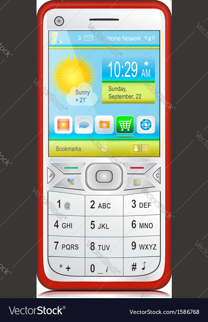 Smartphone with physical keyboard vector | Price: 1 Credit (USD $1)