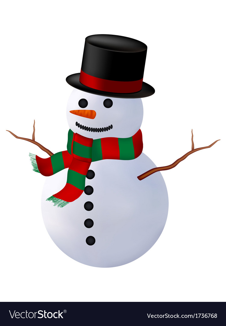 Snowman isolate vector | Price: 1 Credit (USD $1)