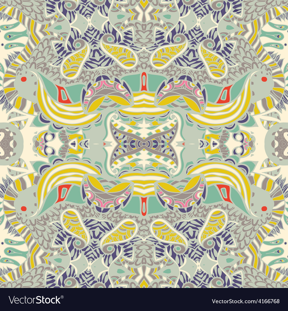 Traditional ornamental paisley bandanna vector | Price: 1 Credit (USD $1)