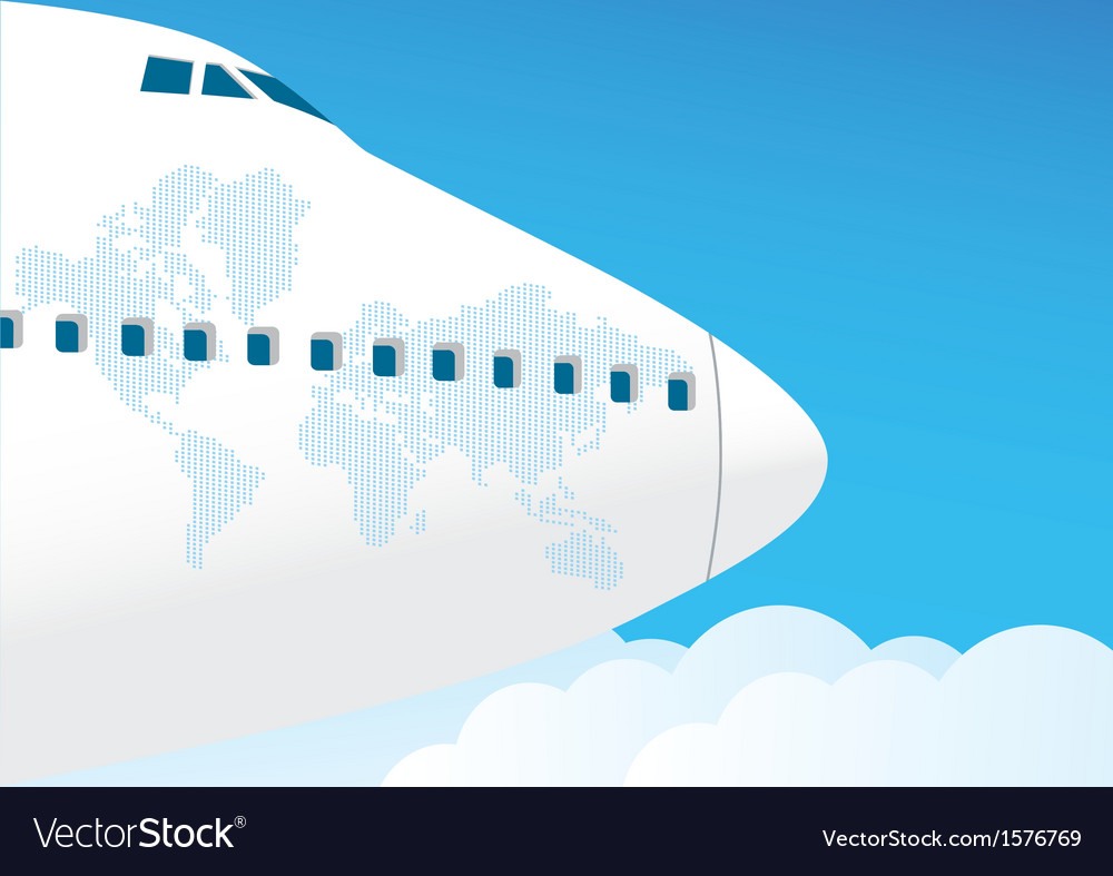 Airplane flies in the sky vector | Price: 1 Credit (USD $1)
