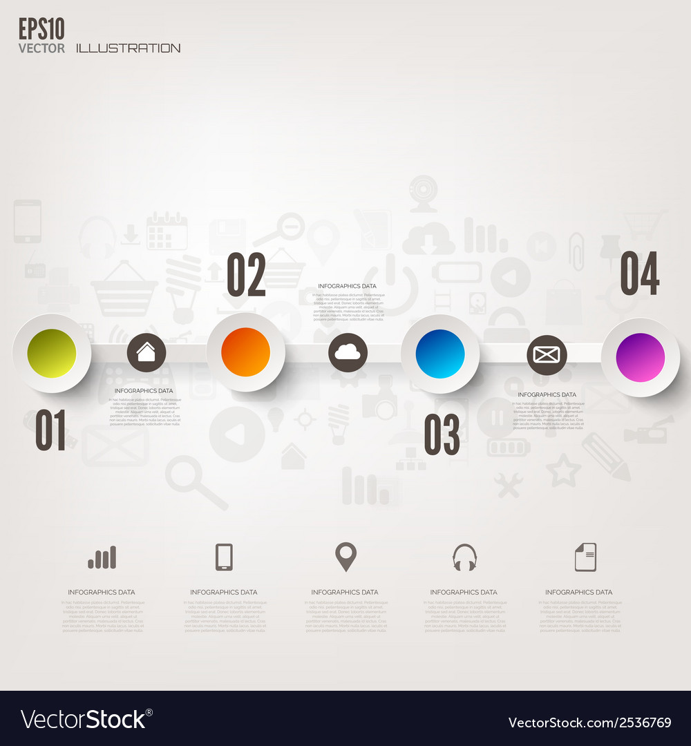 Business step infographic timeline background vector   Price: 1 Credit (USD $1)