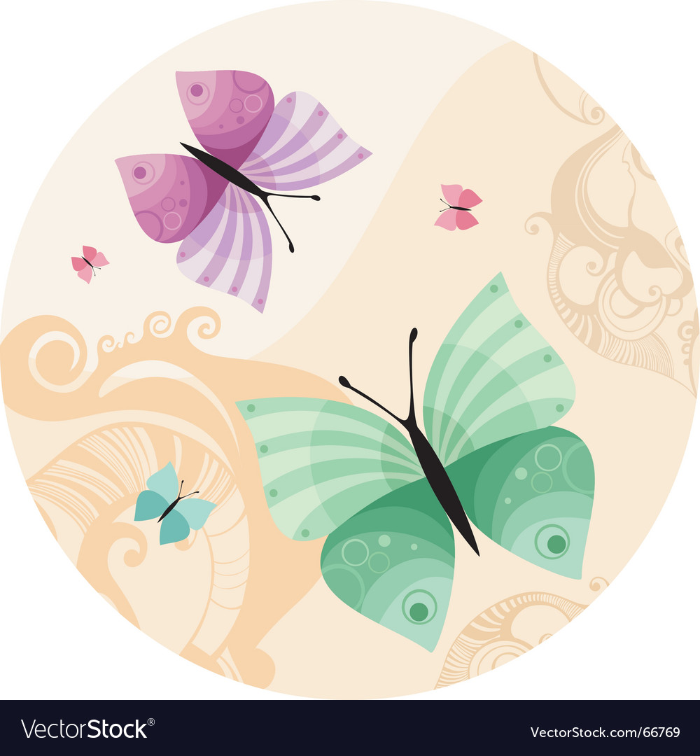 Butterfly illustration vector | Price: 1 Credit (USD $1)