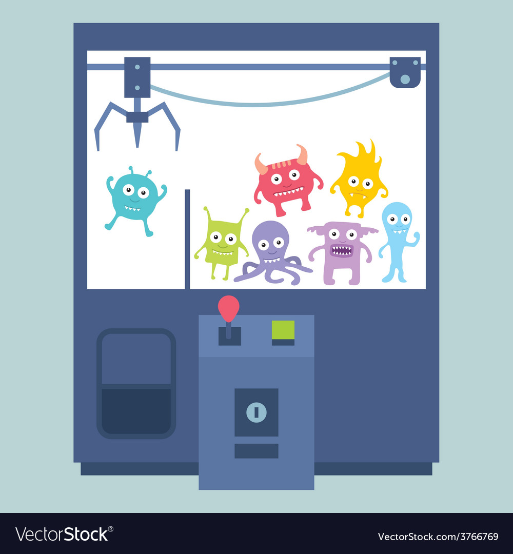 Claw crane game machine vector | Price: 1 Credit (USD $1)