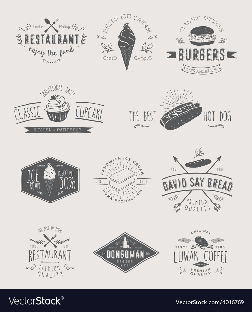 Design elements and badges vector