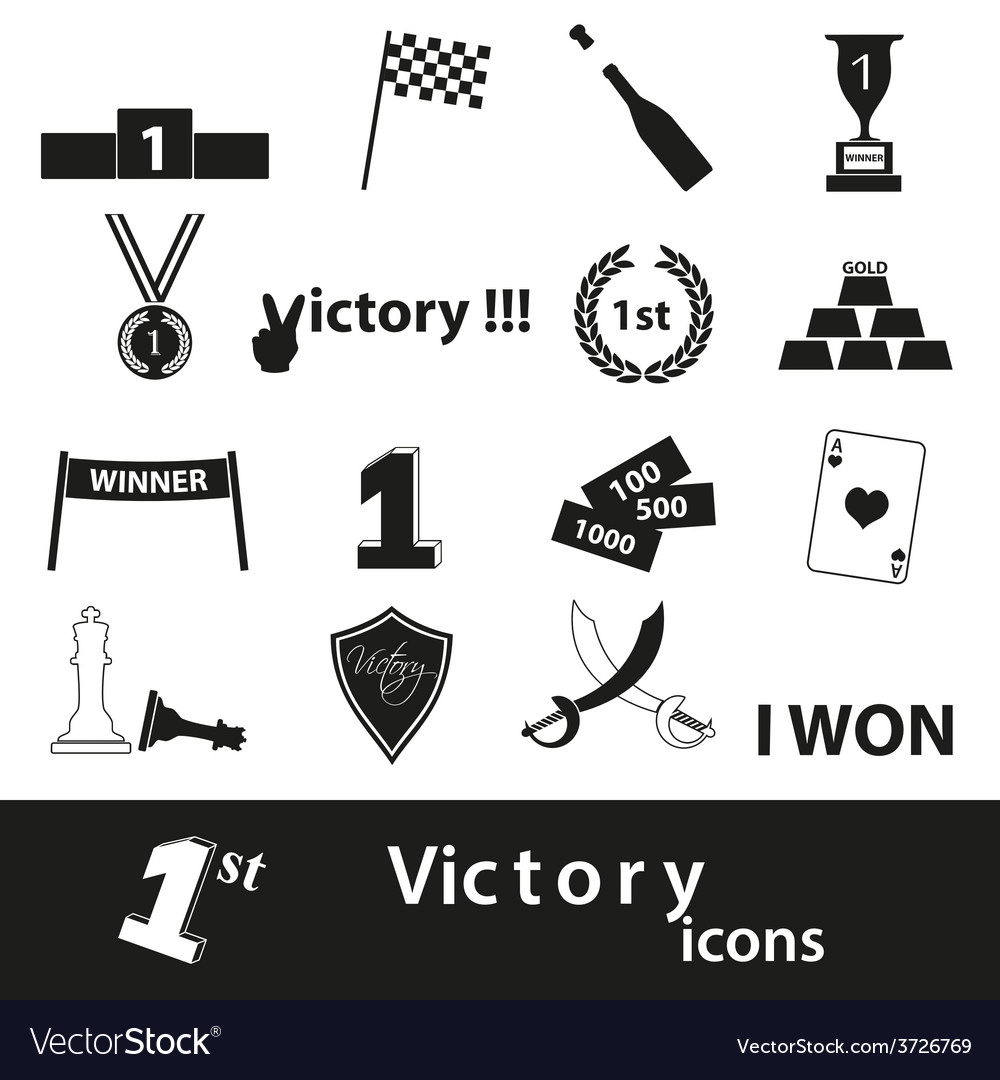 Flawless victory symbols set of icons eps10 vector | Price: 1 Credit (USD $1)