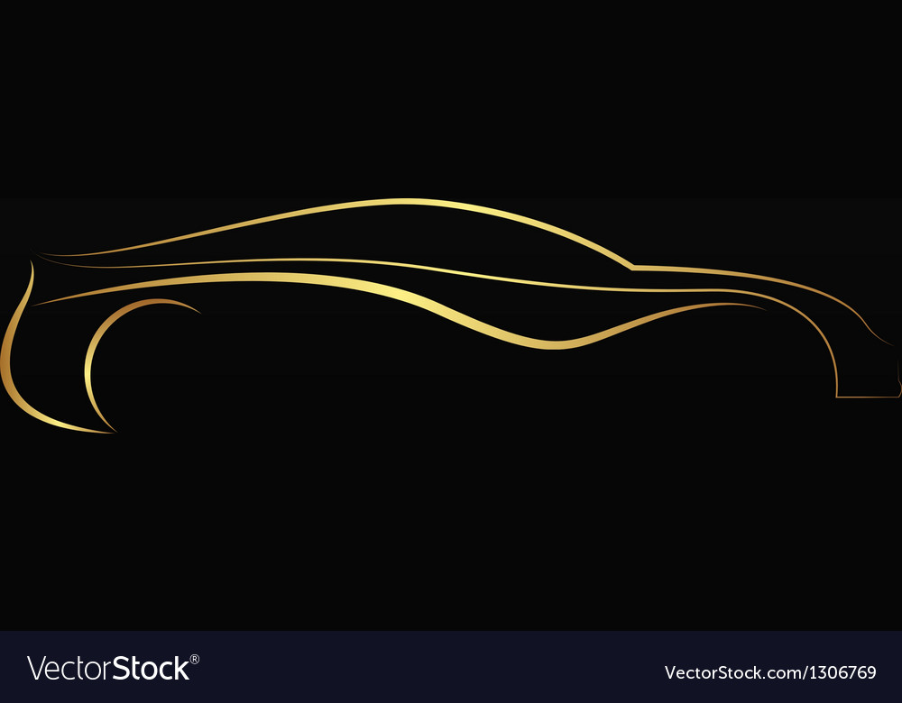 Golden car logo vector | Price: 1 Credit (USD $1)