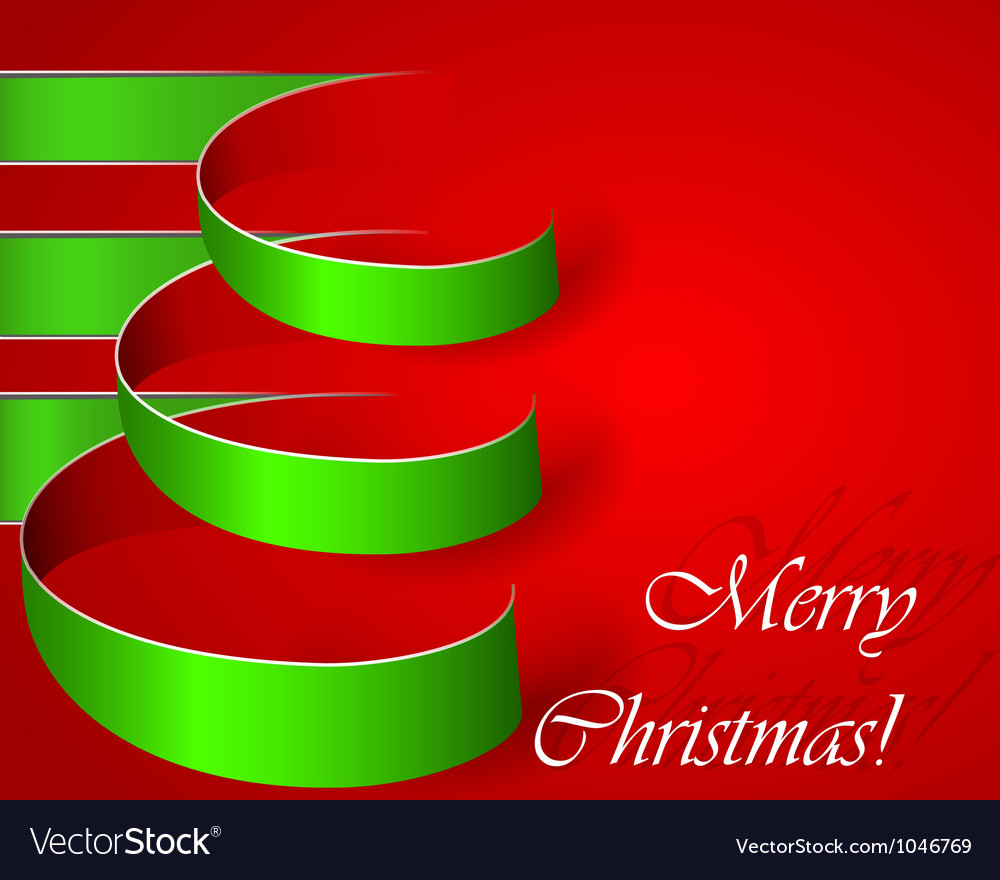 Green stripe christmas tree eps10 vector | Price: 1 Credit (USD $1)