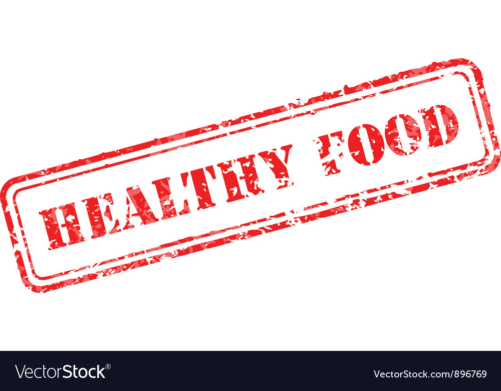 Healthy food rubber stamp vector | Price: 1 Credit (USD $1)