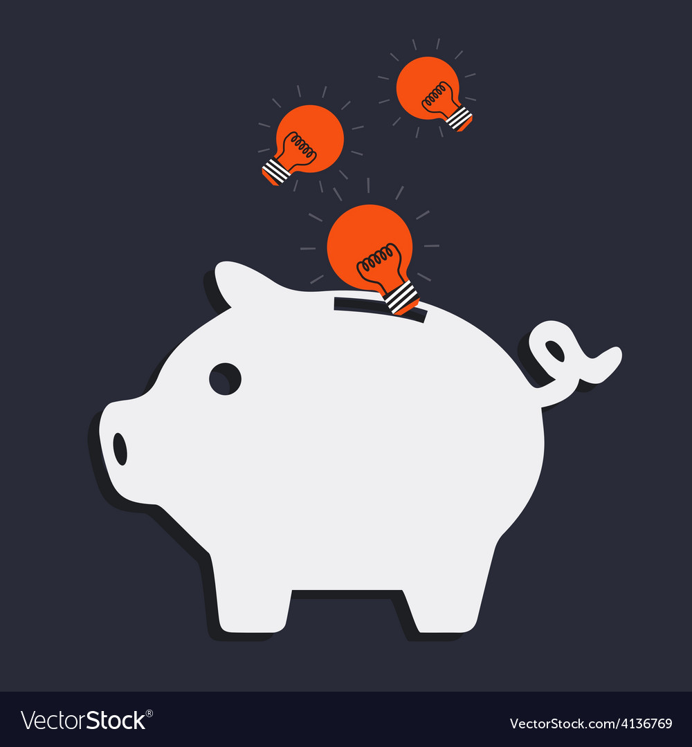 Idea pig bank vector | Price: 1 Credit (USD $1)