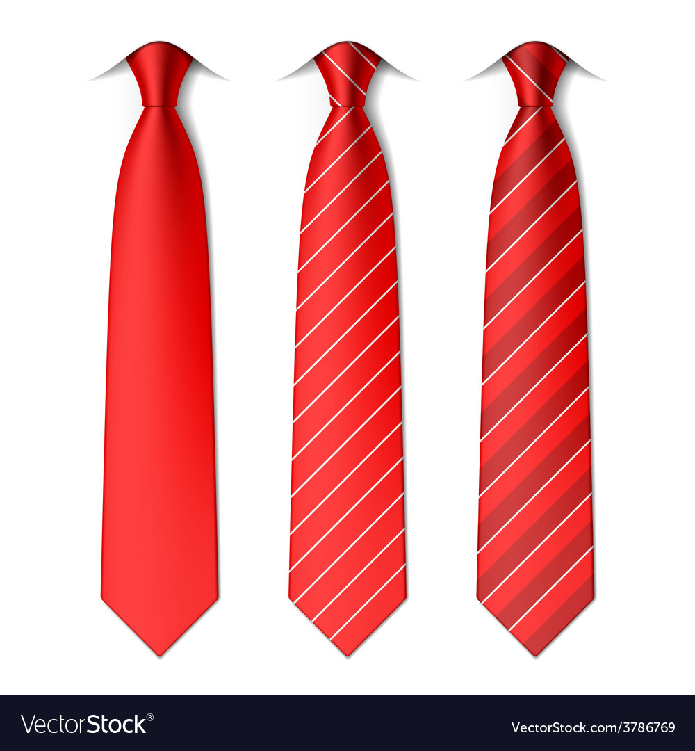 Red plain and striped ties vector | Price: 1 Credit (USD $1)