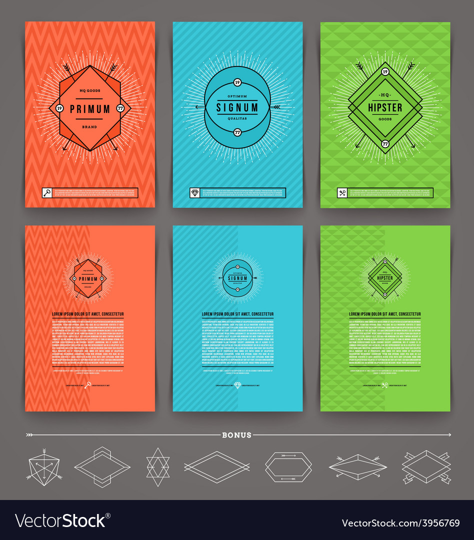 Set of abstract template flyer page design with vector | Price: 1 Credit (USD $1)