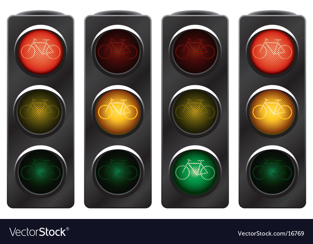 Traffic light for bikes vector | Price: 1 Credit (USD $1)