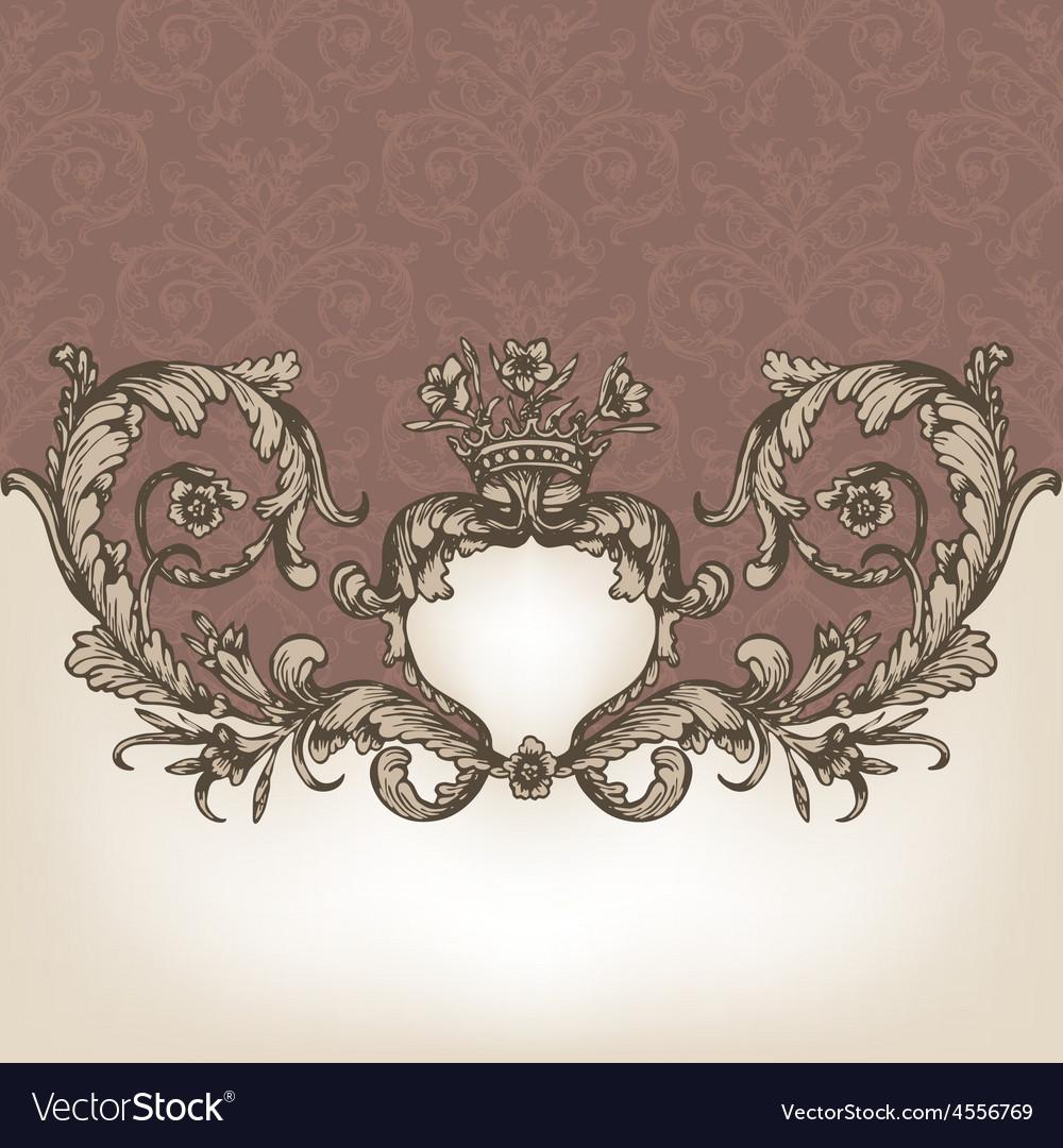Vintage royal card vector | Price: 1 Credit (USD $1)