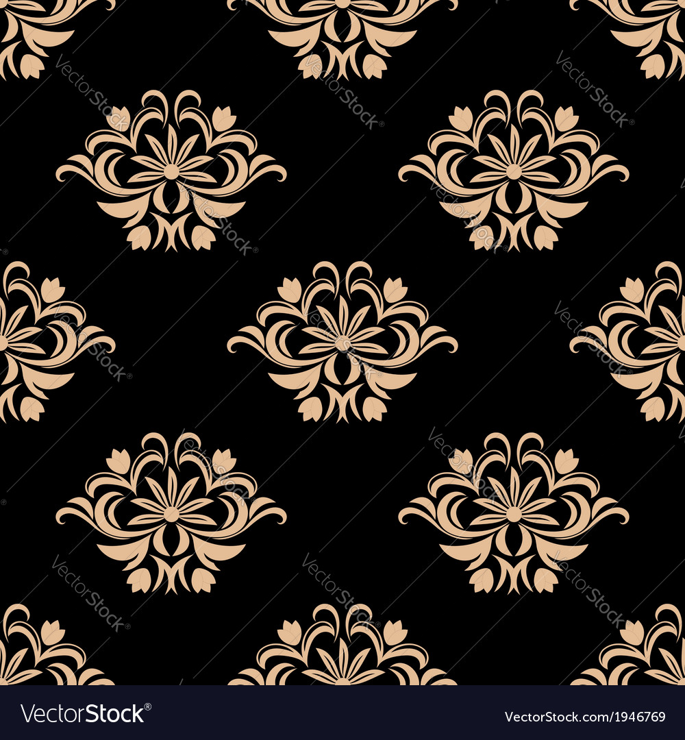 Vintage seamless pattern background vector | Price: 1 Credit (USD $1)