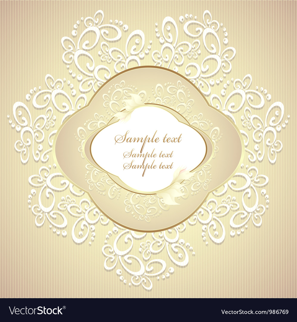 Wedding or sweet frame with petals and lace vector | Price: 1 Credit (USD $1)