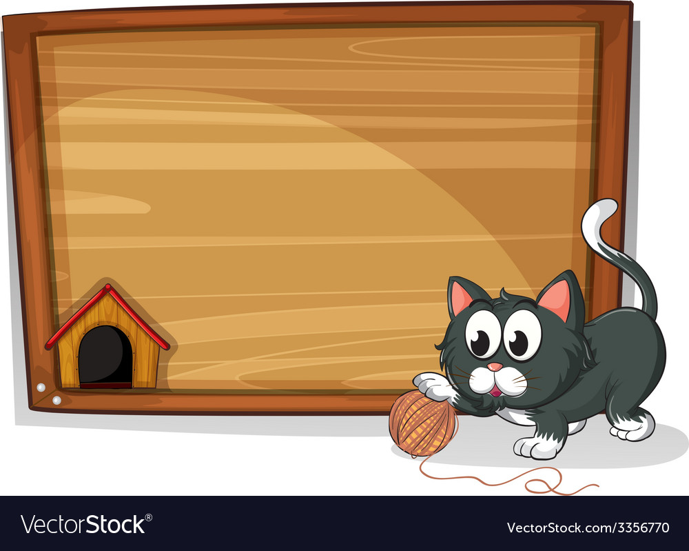 A board with a cat vector | Price: 3 Credit (USD $3)