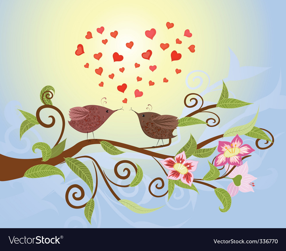 Bird love vector | Price: 1 Credit (USD $1)