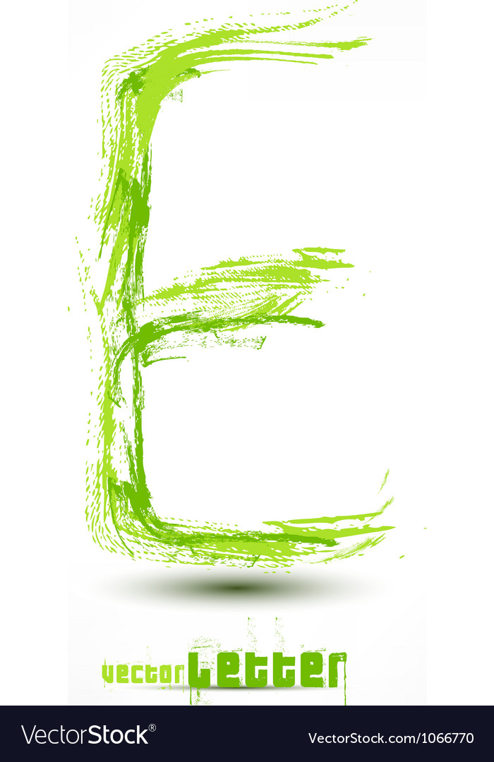 Drawn by hand letter grunge green grass wav vector | Price: 1 Credit (USD $1)