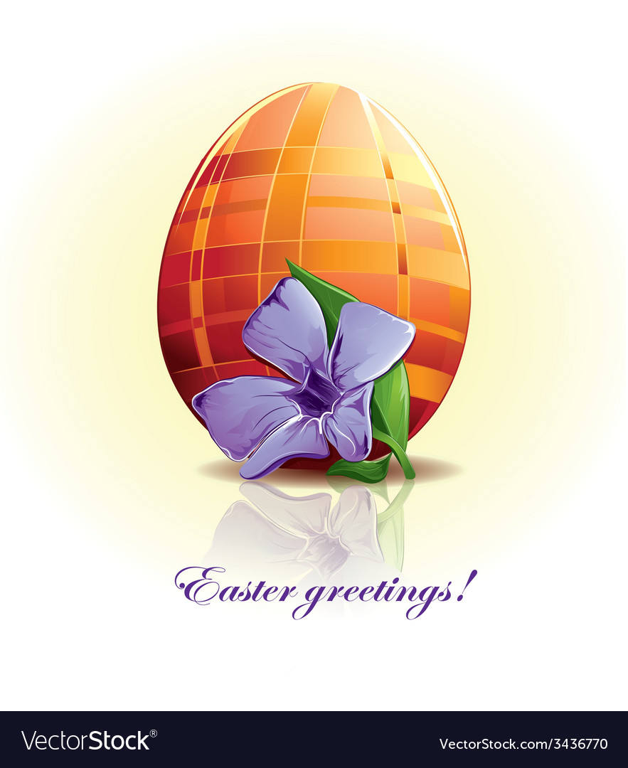 Easter egg with flower vector | Price: 1 Credit (USD $1)