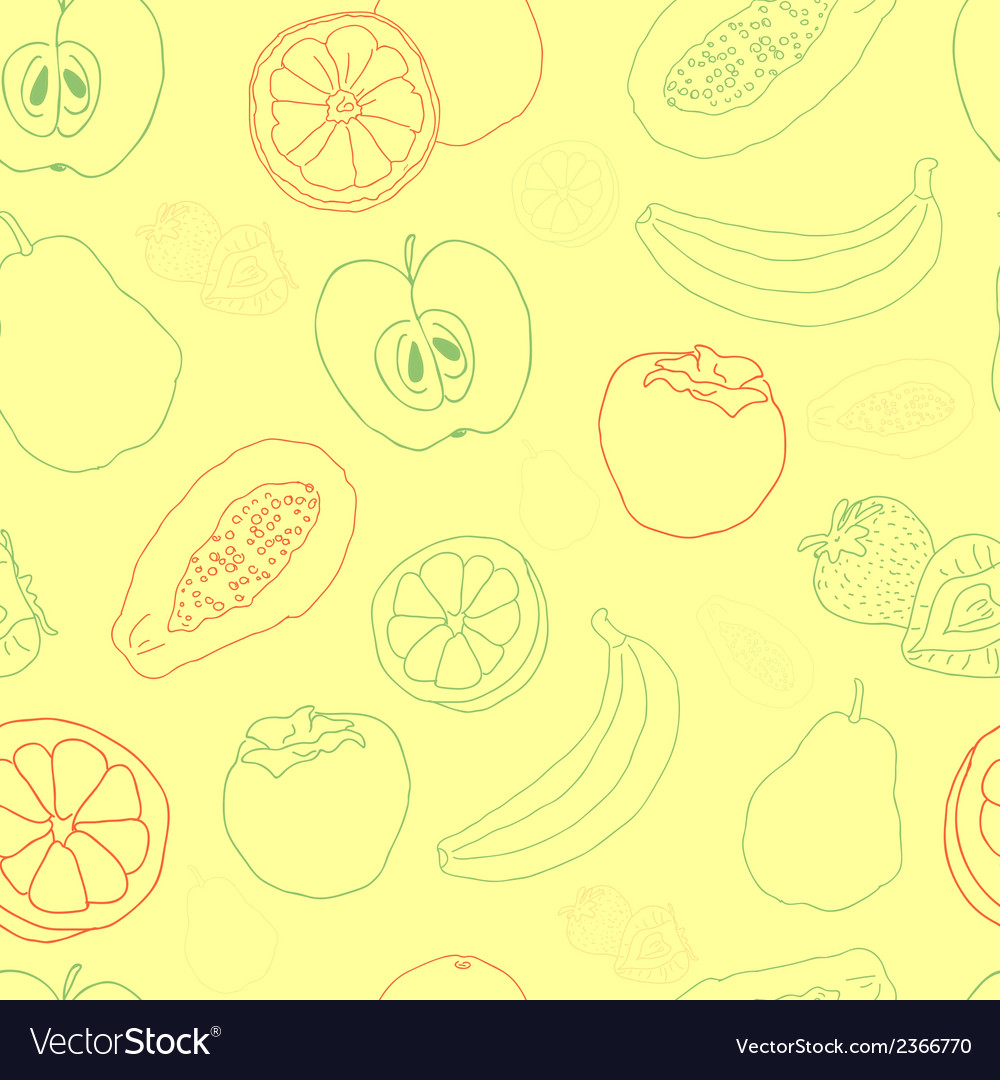 Exotic fruit seamless pattern vector | Price: 1 Credit (USD $1)