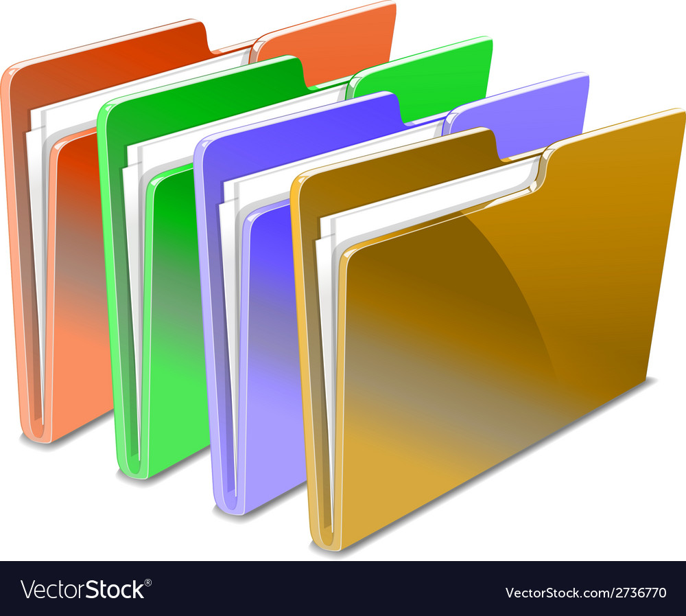 Folder vector | Price: 1 Credit (USD $1)