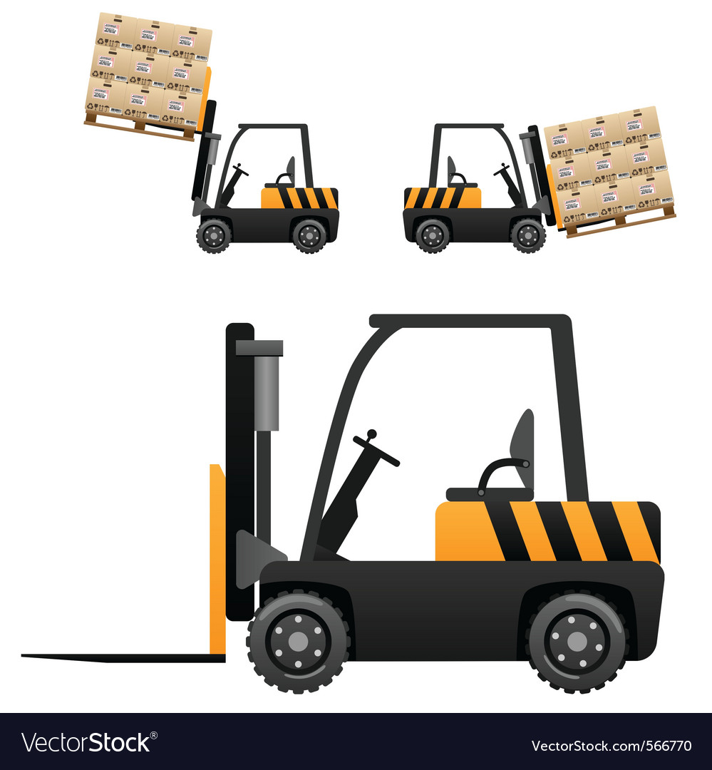Forklift loader vector | Price: 1 Credit (USD $1)