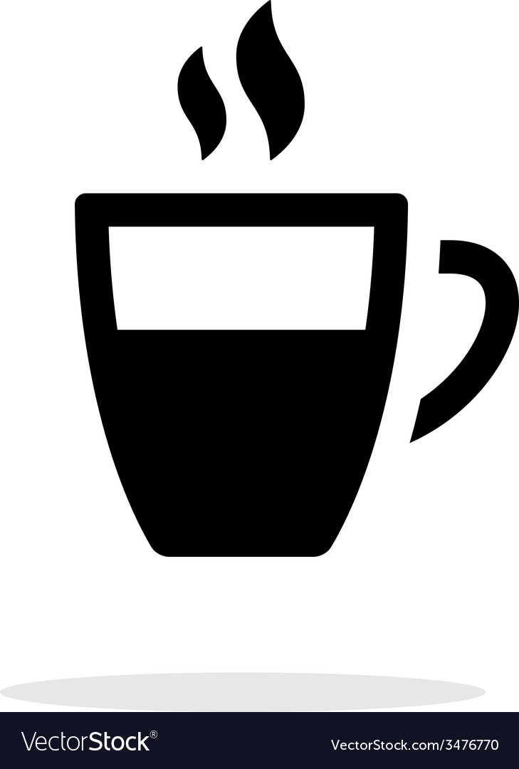 Half coffee cup simple icon on white background vector | Price: 1 Credit (USD $1)