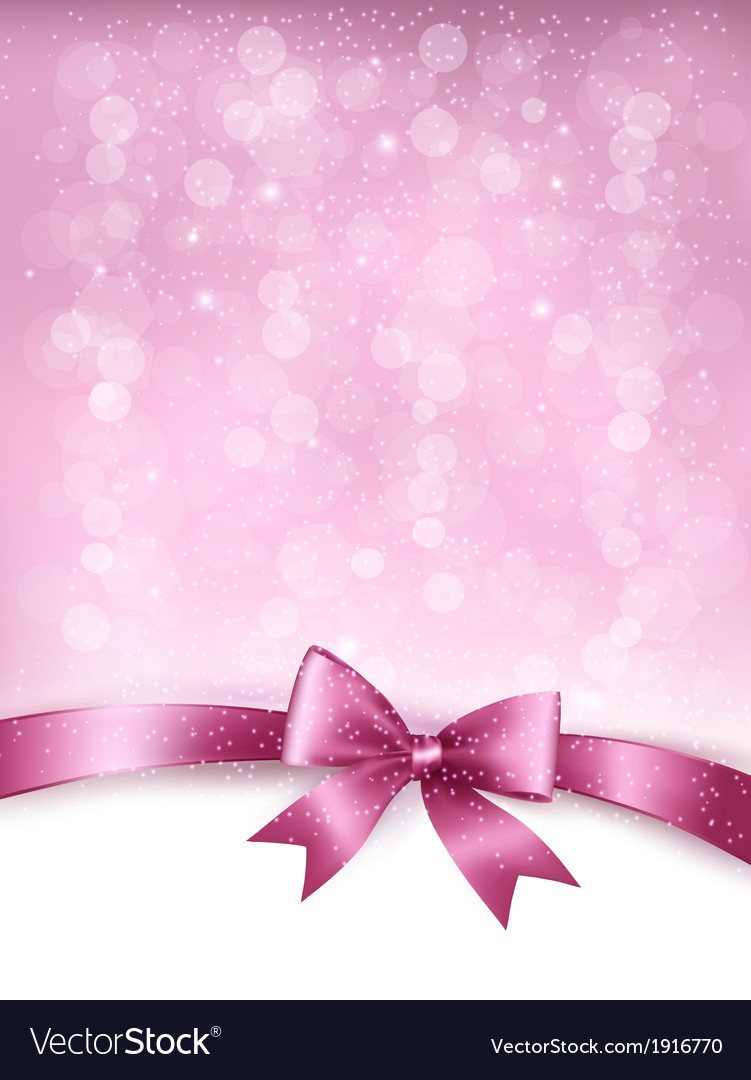 Holiday elegant background with gift glossy bow vector | Price: 1 Credit (USD $1)