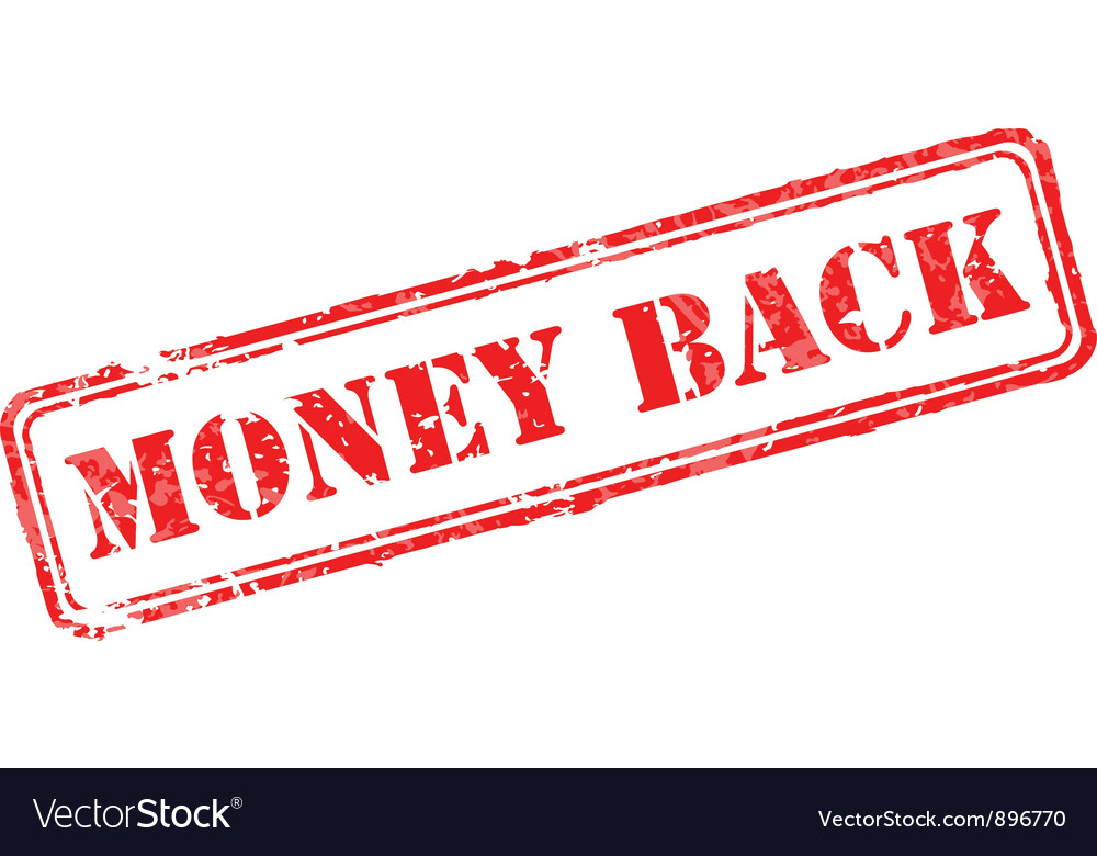 Money back rubber stamp vector | Price: 1 Credit (USD $1)