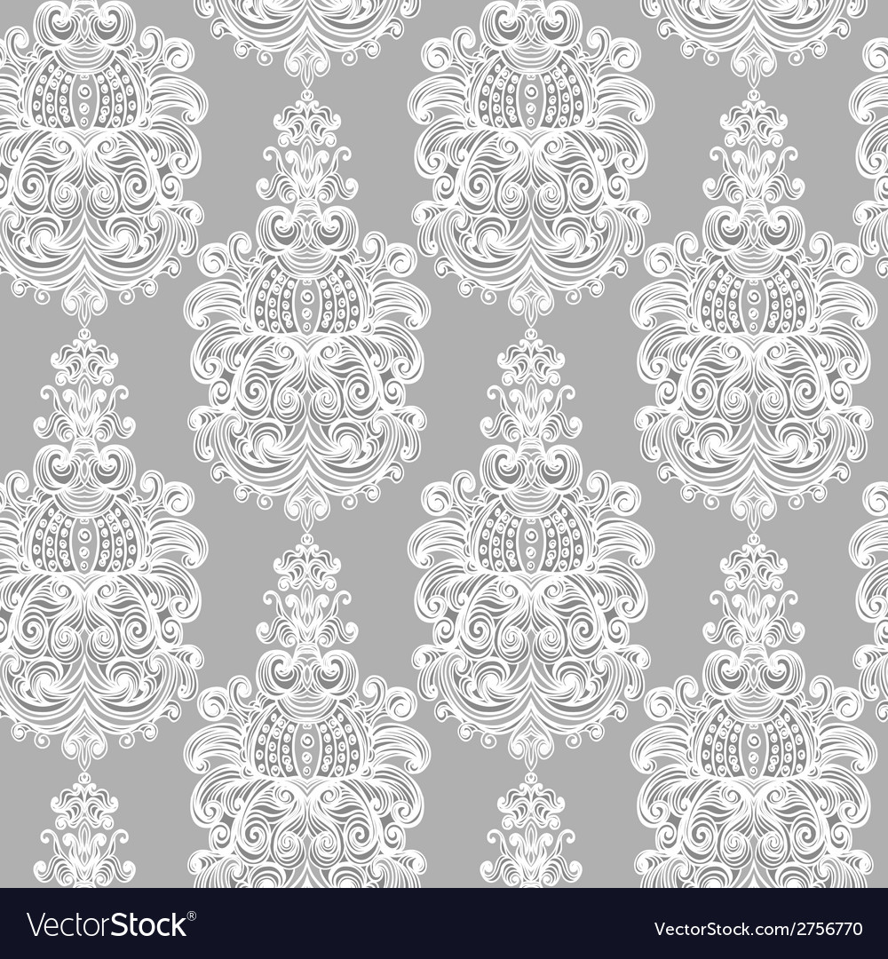 Seamless vintage baroque background vector | Price: 1 Credit (USD $1)