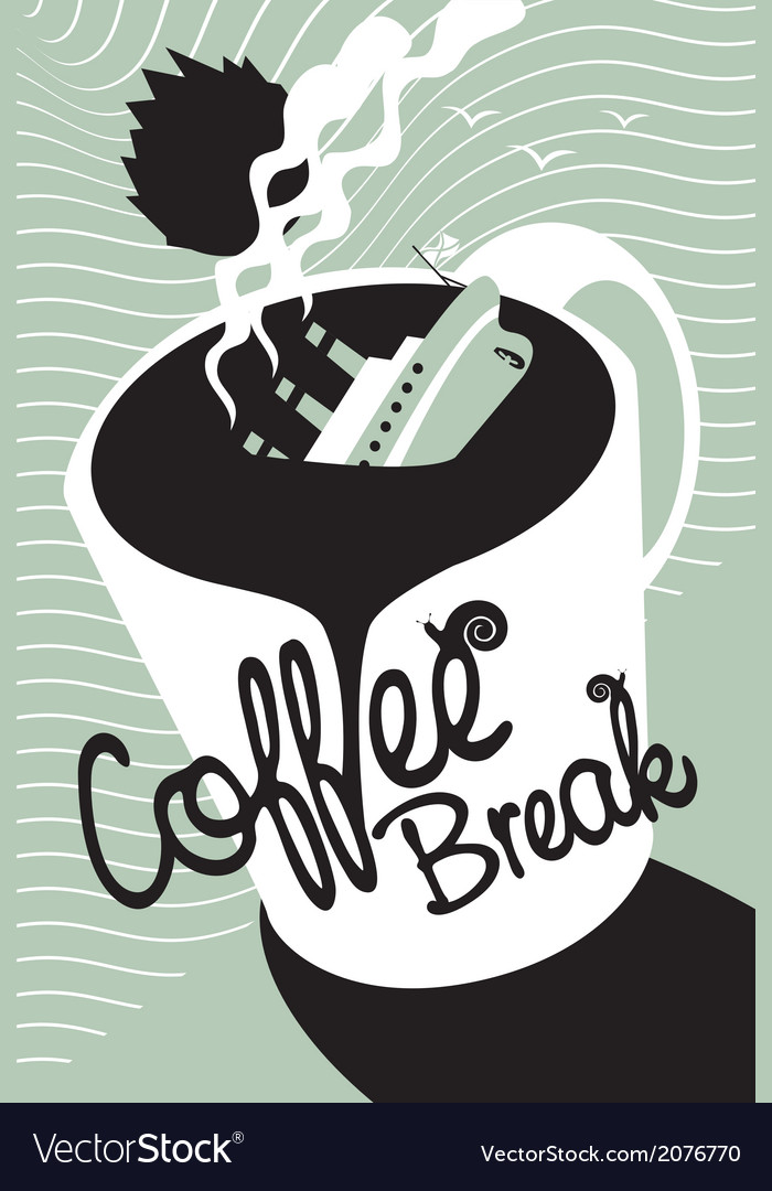 Titanic coffee vector | Price: 1 Credit (USD $1)