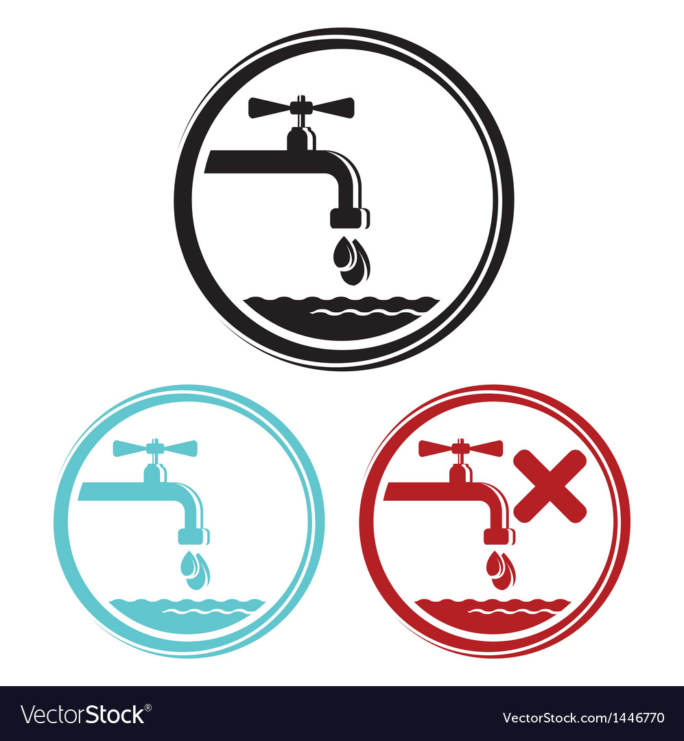 Water tap icons vector | Price: 1 Credit (USD $1)