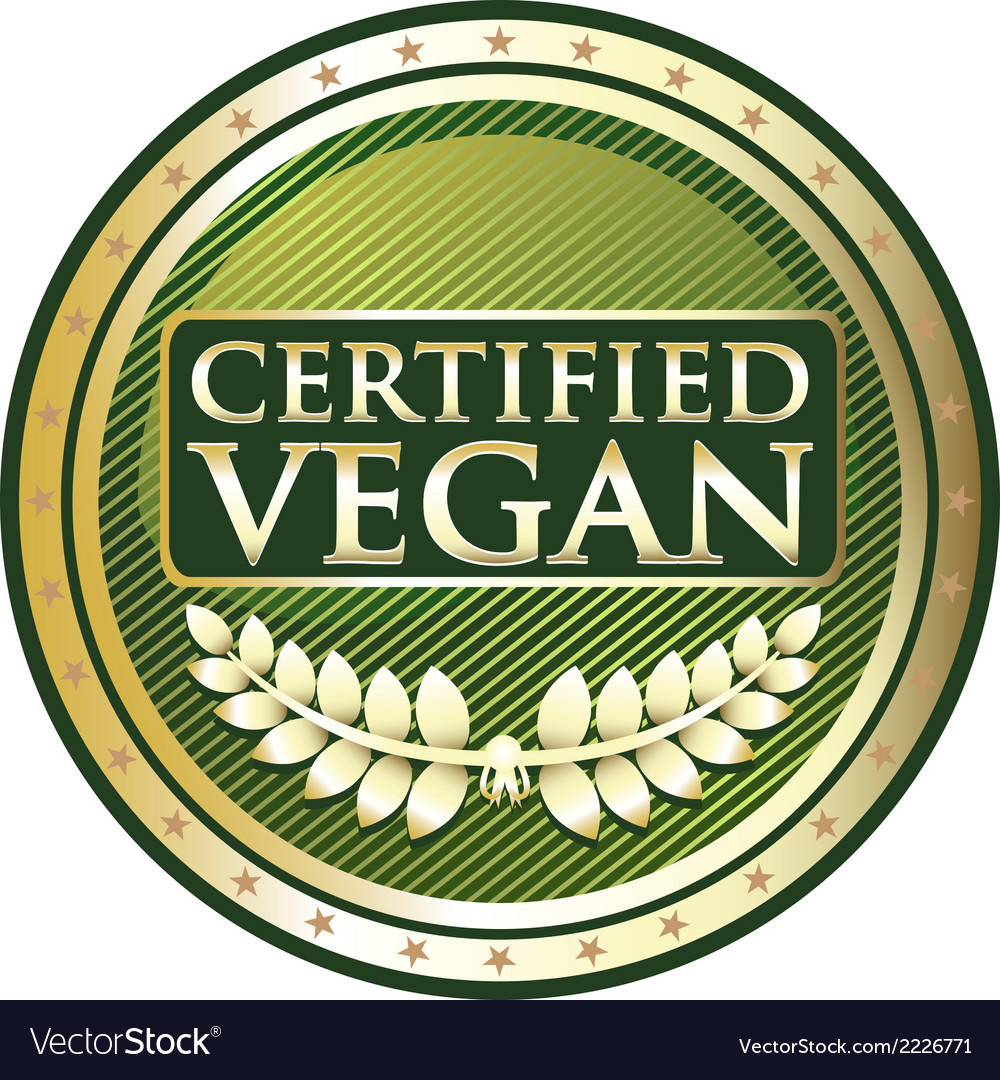 Certified vegan label vector | Price: 1 Credit (USD $1)