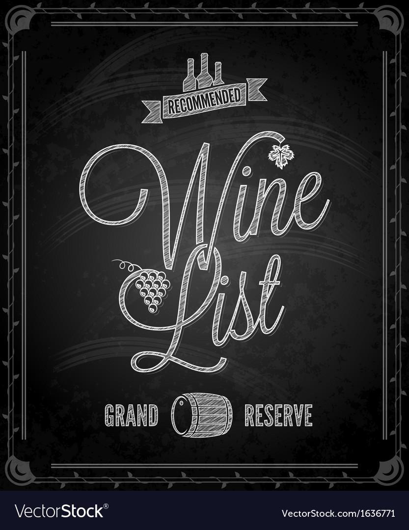 Chalkboard wine vector | Price: 1 Credit (USD $1)